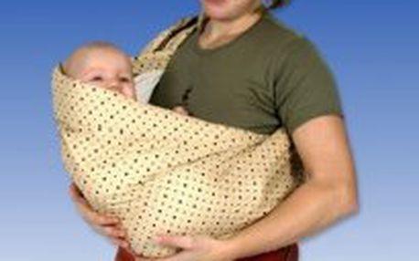 Babyvak látkové nosítko s kapsou Baby vak plus - hnědý