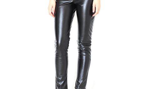 Dámské černé kožené kalhoty Santa Barbara