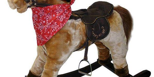 Houpací kůň větší se šátkem se zvukem