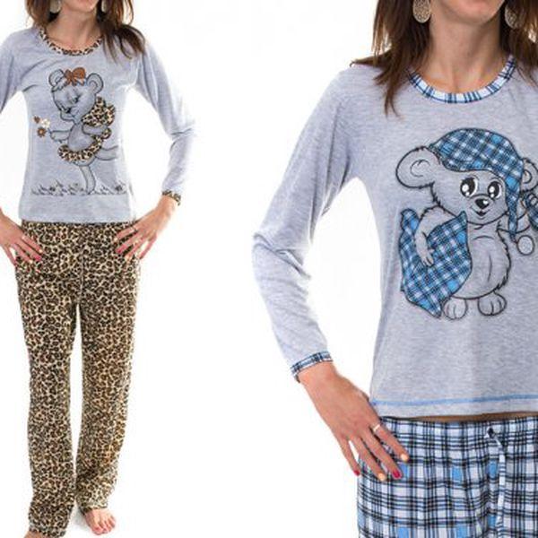 Dámská bavlněná pyžama s potiskem