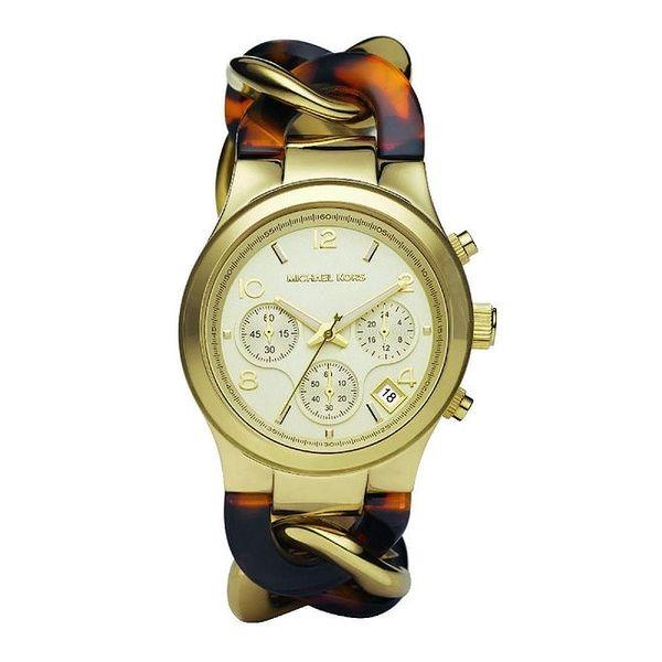 Dámské hodinky s kombinovaným náramkem Michael Kors