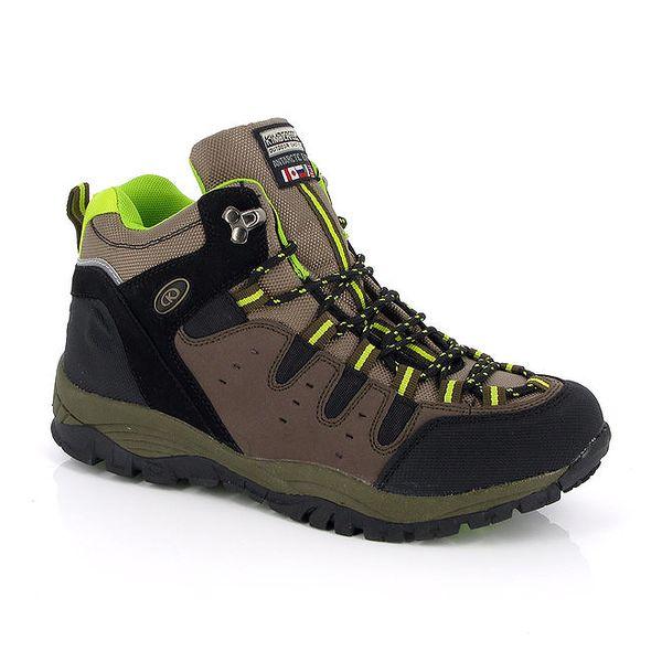 Kotníkové boty v khaki provedení Kimberfeel