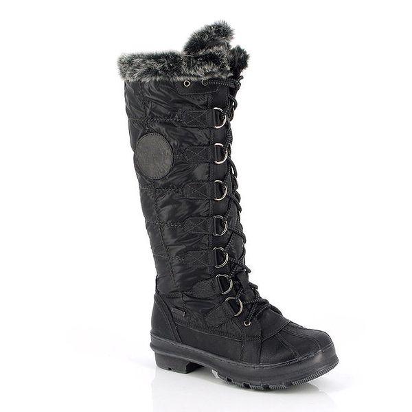 Dámské černé zimní boty s kožíškem Kimberfeel