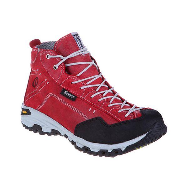 Dámské červené kotníkové boty s tkaničkami Kimberfeel
