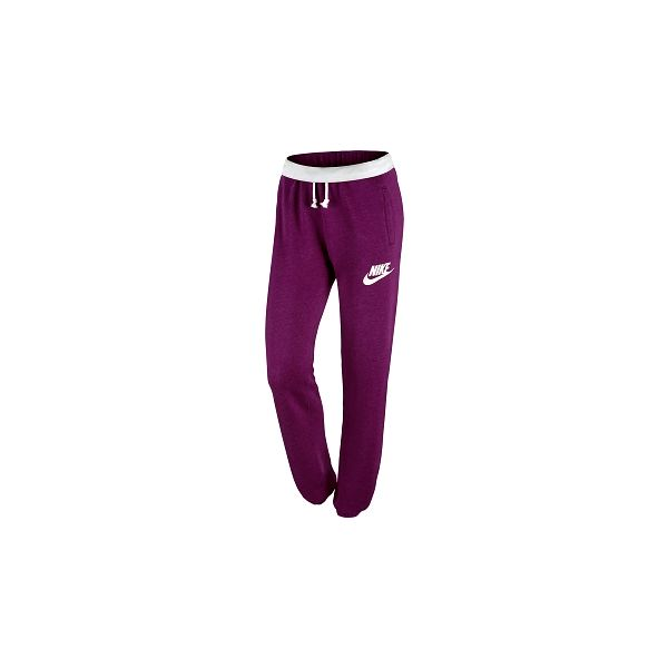 Dámské pohodlné kalhoty - Nike RALLY PANT-LOOSE vínová