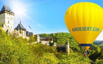 Adrenalinový zážitek - hodinový let balonem!
