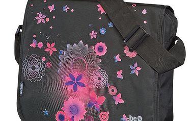 Taška přes rameno be.bag - Motýl růžový