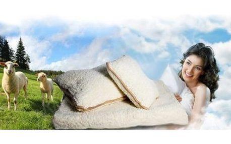 Hřejivá deka s příměsí ovčího vlákna + 2 polštáře
