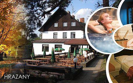 Energy relax pobyt v hotelu Hrazany jen hodinu od Prahy s chutnou polopenzí, vstup do wellness clubu s vířivkou, infra a parní saunou, oxygenoterapie, parafínový zábal, hydroterapie chodidel vulkanickými kameny a další relaxace!!