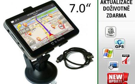 7palcová GPS navigace B-Techs s programem Be-On-Road