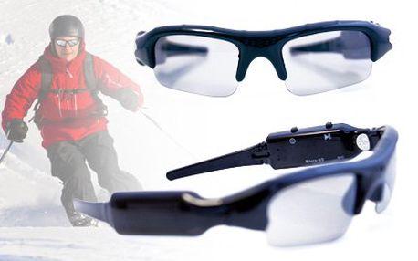 DVR sluneční brýle s kamerou, foťákem a slotem na karty SD