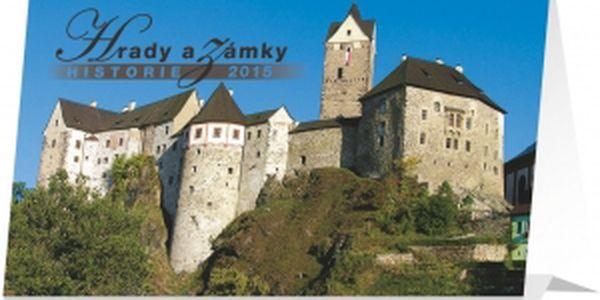 Hrady a zámky, kalendář 2015, 23,1 x 14,5 cm