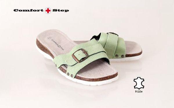 Pantofle dámské Fussbett zelená