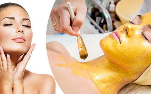 Kosmetické liftingové ošetření v délce 75 minut s aplikací zlaté masky s viditelným výsledkem
