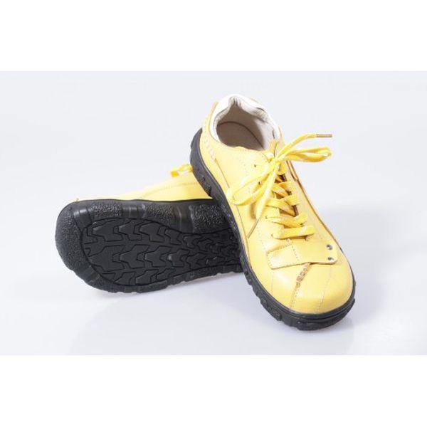 Dámská kožená vycházková obuv žlutá Super in