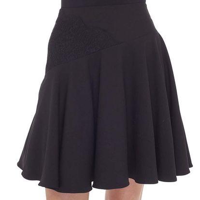 Dámská černá sukně s krajkou Arefeva