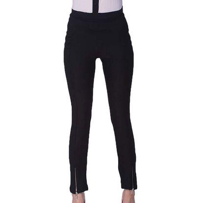 Dámské černé kalhoty na zip Arefeva