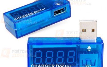 Digitální USB tester - modrá barva a poštovné ZDARMA! - 26708193