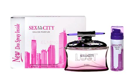 Sex In The City Lust EDP dárková sada W - Edp 100ml + 50ml deodorant