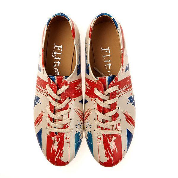 Dámské polobotky Elite Goby - s britskou vlajkou