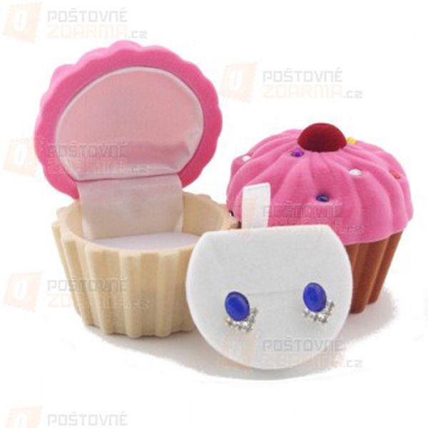 Krabička na šperky ve tvaru cupcaku a poštovné ZDARMA! - 26713235