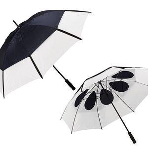 Velký dvouvrstvý deštník - tmavě modrý