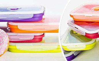 Skládací silikonový box na svačiny