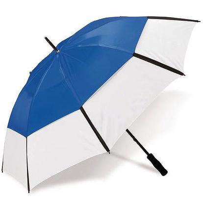 Velký dvouvrstvý deštník - světle modrý