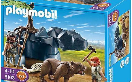 Medvěd s jeskynním mužem - Playmobil