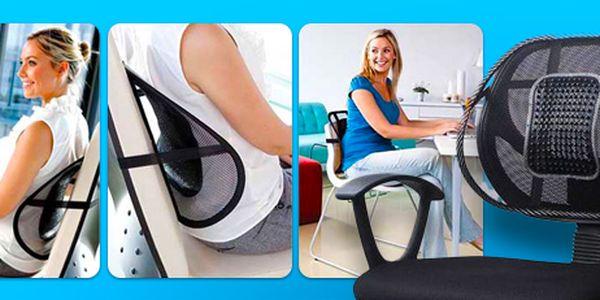 Ergonomická podložka na židli: podporuje správné sezení doma i v práci!