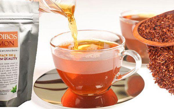 Půlkilové balení lahodného čaje ROOIBOS s citronovou příchutí