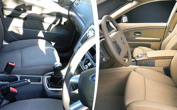 Profesionální čištění interieru vozidel včetně tepování