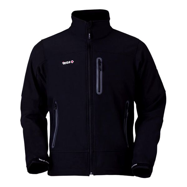 Pánská černá bunda na zip Izas