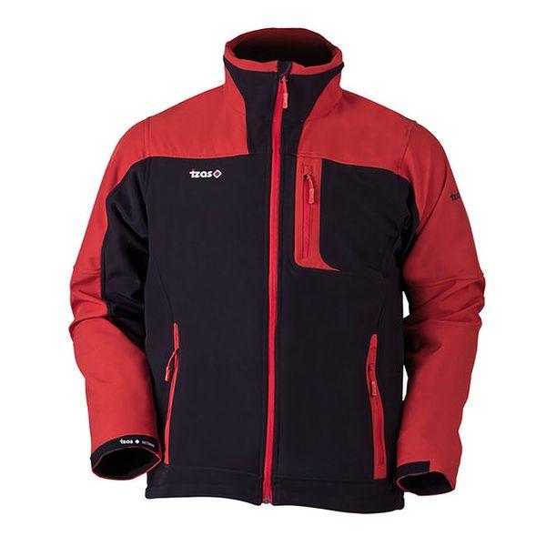 Pánská černo-červená softshellová bunda Izas