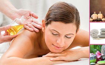 Luxusní aroma masáž éterickými oleji v délce 75 minut