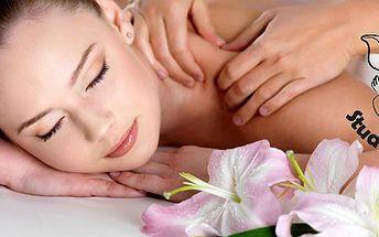 60 minutová aroma masáž luxusními oleji z jasmínu, růže, levandule