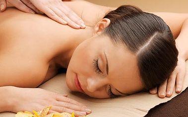 Hodinová relaxační masáž zad a šíje v kombinaci s ...
