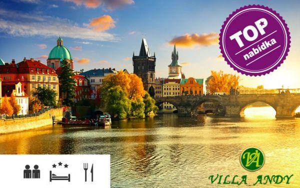 Praha – pobyt s polopenzí ve 3* Ville Andy
