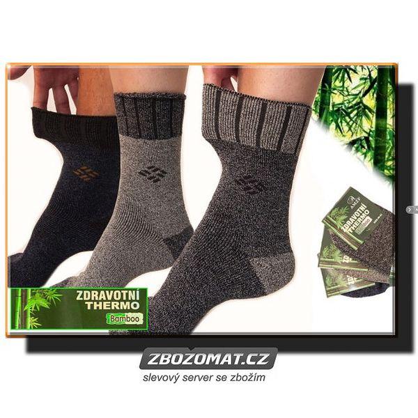 Zdravotní termo ponožky s bambusovým vláknem - 5 párů!