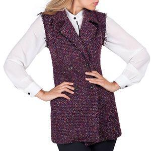 Dámská tmavě fialová vesta Sixie