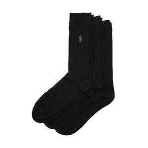 Sada tří párů černých pánských ponožek Ralph Lauren