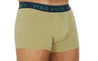 Pánské oranžovo-zelené pánské boxerky Ralph Lauren