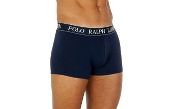 Pánské tmavě modré boxerky se žlutou výšivkou Ralph Lauren