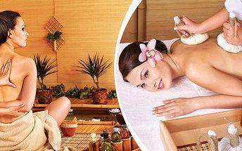 Královská thajská masáž, šampaňské a aroma lázeň – úžasný relaxační balíček