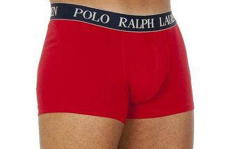 Pánské červené boxerky s výšivkou Ralph Lauren