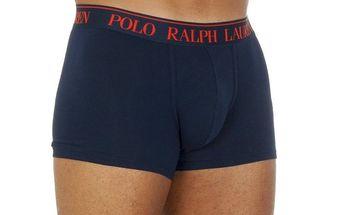 Pánské tmavě modré boxerky s červenou výšivkou Ralph Lauren