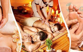 Partnerská hodinová královská masáž s vychlazeným šampaňským v luxusním salonu Elite