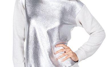 Dámská šedo-stříbrná mikina Sixie