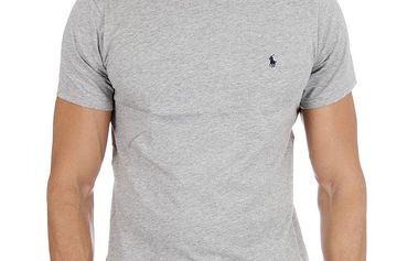 Pánské světle šedé tričko Polo Ralph Lauren