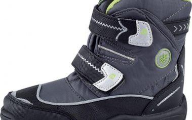 Dětská zimní obuv alpine pro antarctica kids šedá/zelená